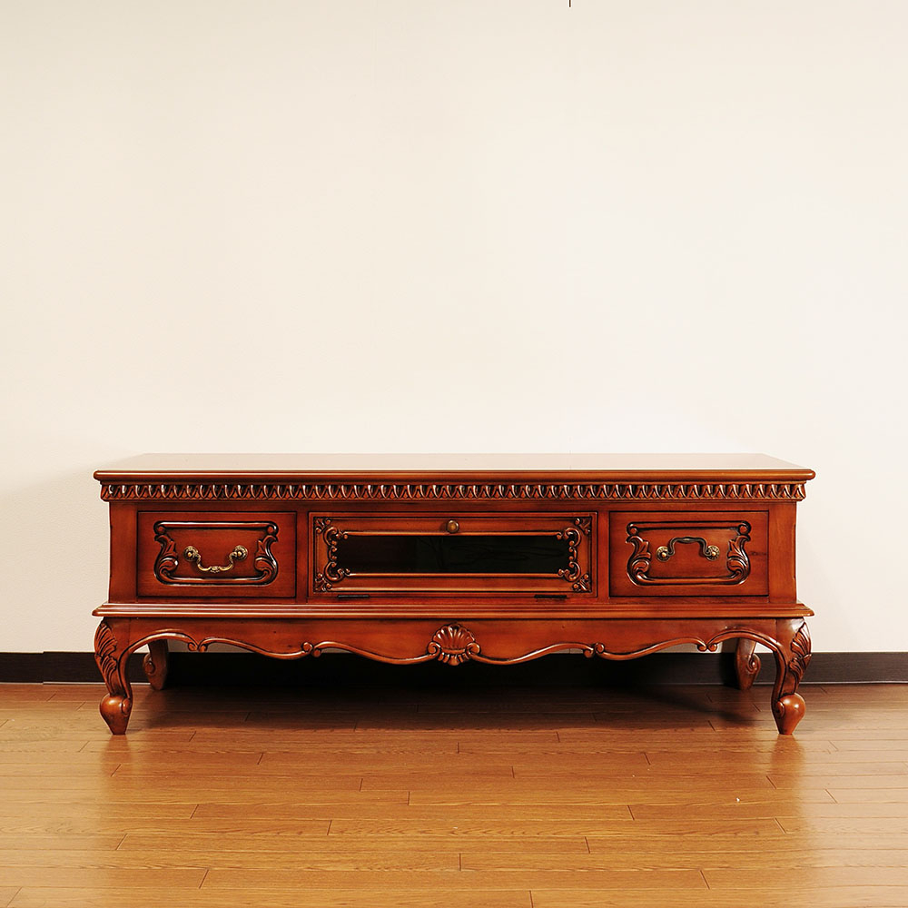 Best And Newest Mahogany Tv Stands Throughout Mahogany Tv Stand Meuble Bois Massif Moderne Unit Teak Tikamoon (View 3 of 20)