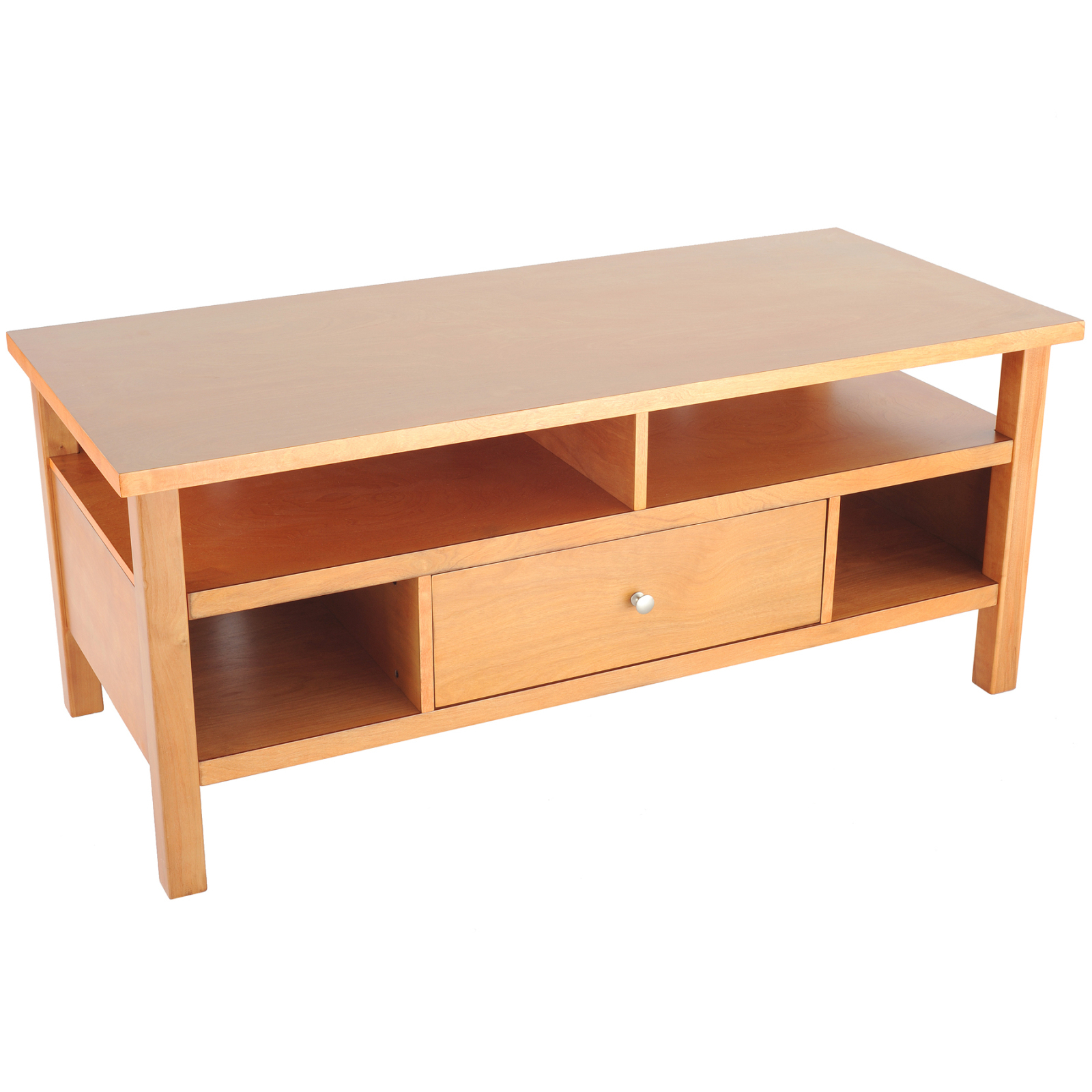 Best And Newest Maple Tv Stands For Flat Screens Pertaining To Flat Screen/tube Tv Stand With Drawer – Honey Maple Distributor (Gallery 1 of 20)