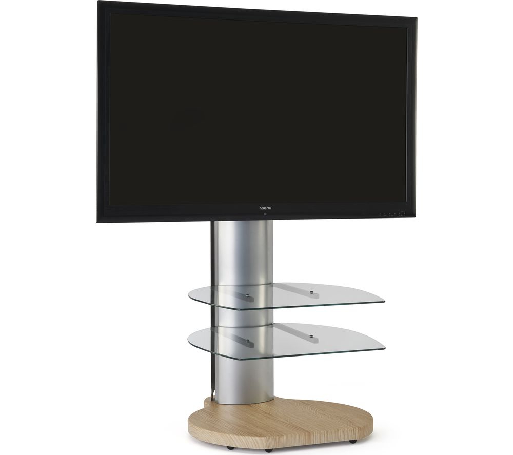 Best And Newest Off Wall Tv Stands Regarding Off The Wall Origin Ii S4 500 Mm Tv Stand With Bracket – Light Wood (Gallery 7 of 20)