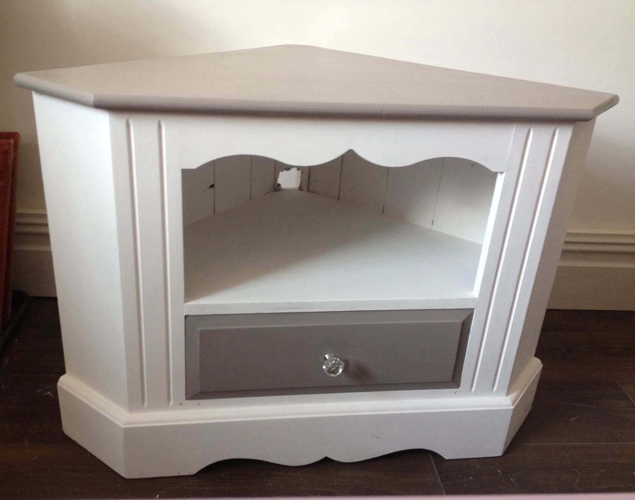 Best And Newest Pine Corner Tv Unit Paintedhare And Hatter Vintage (View 4 of 20)