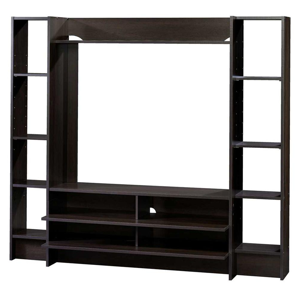 Best And Newest Sauder Beginnings Cinnamon Cherry Shelved Entertainment Center Regarding Lauderdale 74 Inch Tv Stands (View 4 of 20)