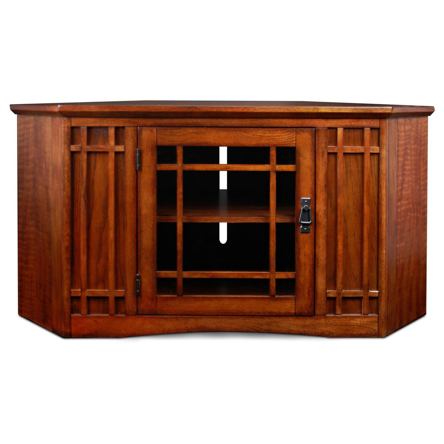 Best And Newest Shop Mission Oak 46 Inch Corner Tv Stand & Media Console – Free In Corner Oak Tv Stands (View 4 of 20)
