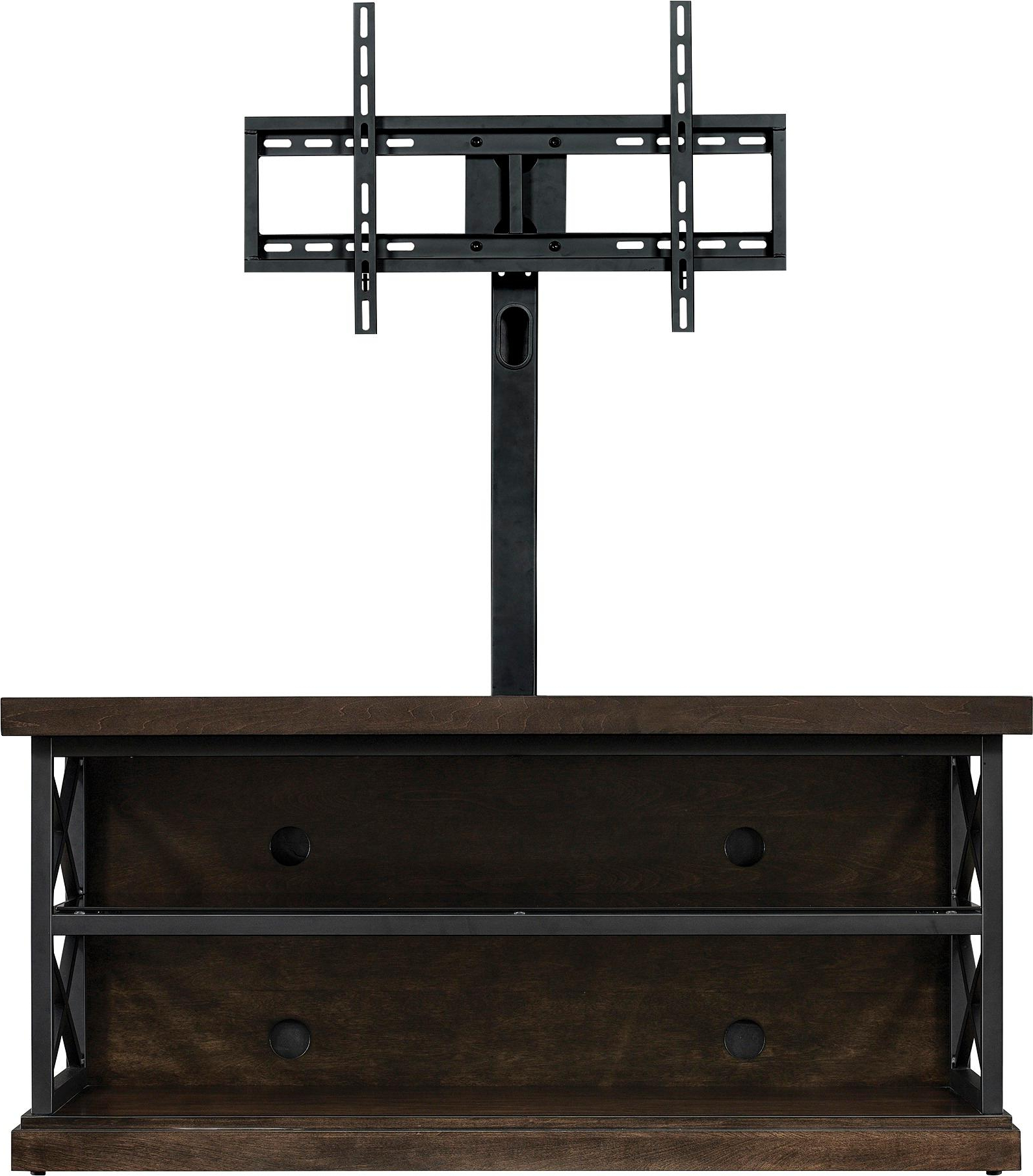 Best And Newest Tv Stand Pole Mount Bello Triple Play For Most Tvs Up To 55 Brown Intended For Bell O Triple Play Tv Stands (View 9 of 20)