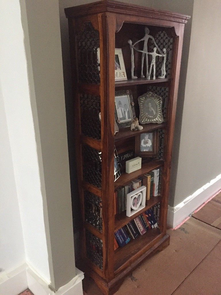 Best And Newest Tv Stands With Matching Bookcases Inside Solid, Dark, Distressed Effect Wood Bookcase And Matching Tv Stand (Gallery 20 of 20)