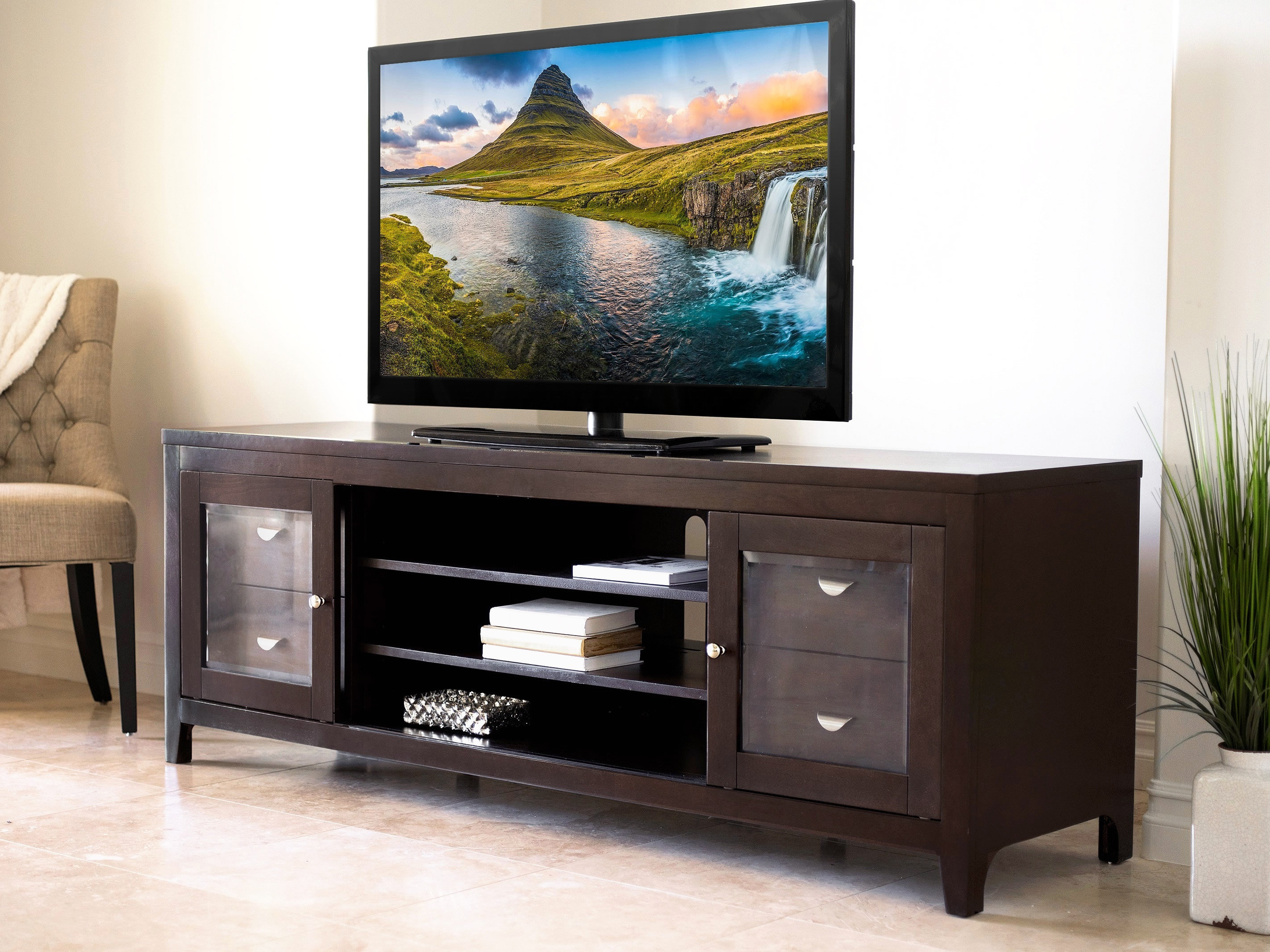 """Best And Newest Valencia 70 Inch Tv Stands For Red Barrel Studio Spilker Tv Stand For Tvs Up To 70"""" & Reviews (Gallery 11 of 20)"""