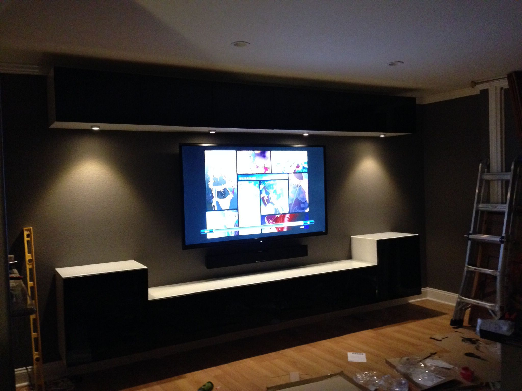 Best And Newest Wall Mounted Ikea Bestas And Under Cabinet Lights With Smoked Glass Within Ikea Wall Mounted Tv Cabinets (View 5 of 20)
