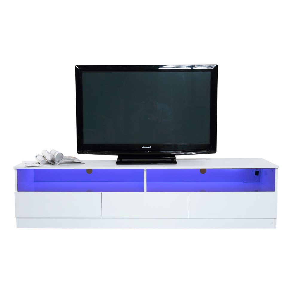 Best And Newest White High Gloss Corner Tv Unit With Homcom High Gloss Tv Stand Unit Cabinet Console 3 Drawers Black W (Gallery 18 of 20)