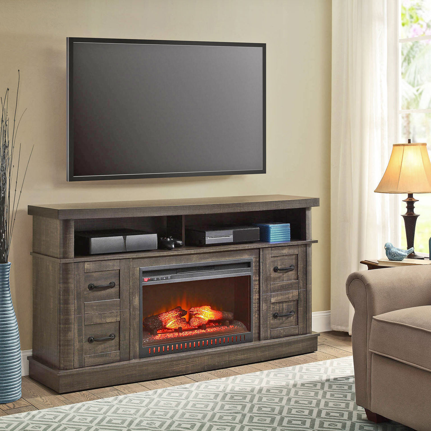 Big Lots Tv Stand Manual 75 Inch With Fireplace Home Depot Electric Inside Best And Newest Big Lots Tv Stands (View 1 of 20)
