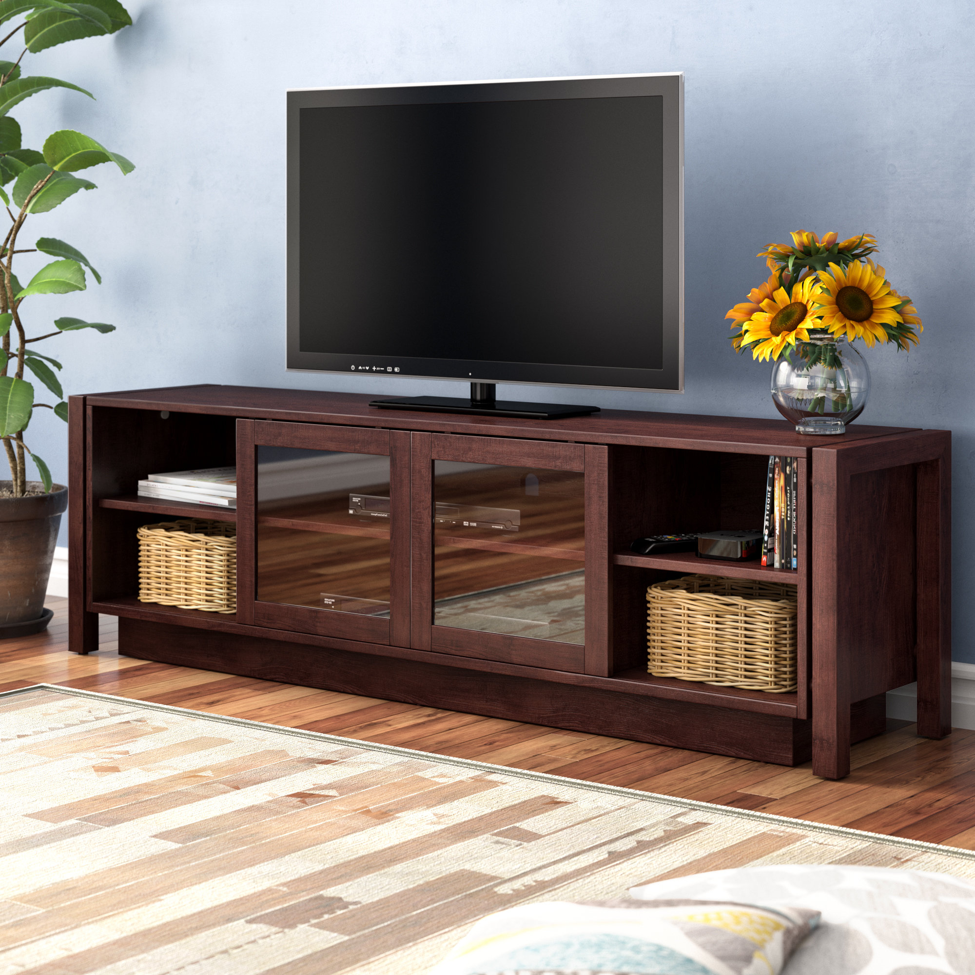 Birch Lane Intended For Best And Newest Casey Grey 54 Inch Tv Stands (View 6 of 20)