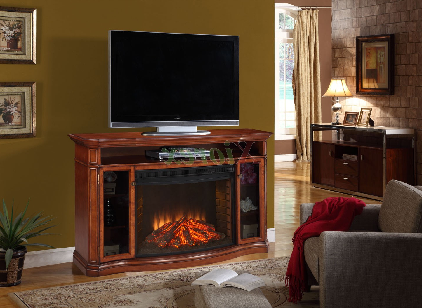 Bjs Tv Stands Regarding Most Popular Furniture: Electric Fireplace Tv Stand For Unique Living Furniture (View 5 of 20)