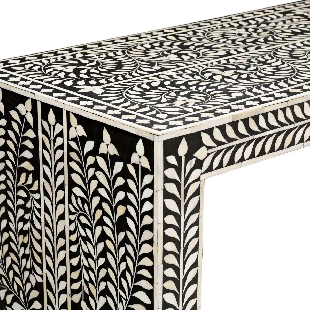 Black And White Inlay Console Tables Throughout Most Current Bone Inlay Console – Vae 1590 – Variety Arts Emporium (View 2 of 20)