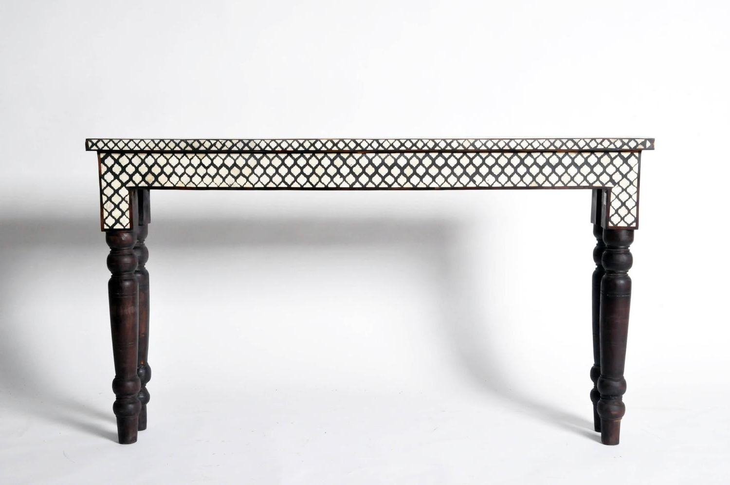Black And White Inlay Console Tables Within Most Recent Bone Inlaid Console Table For Sale At 1Stdibs Console Table With (View 3 of 20)