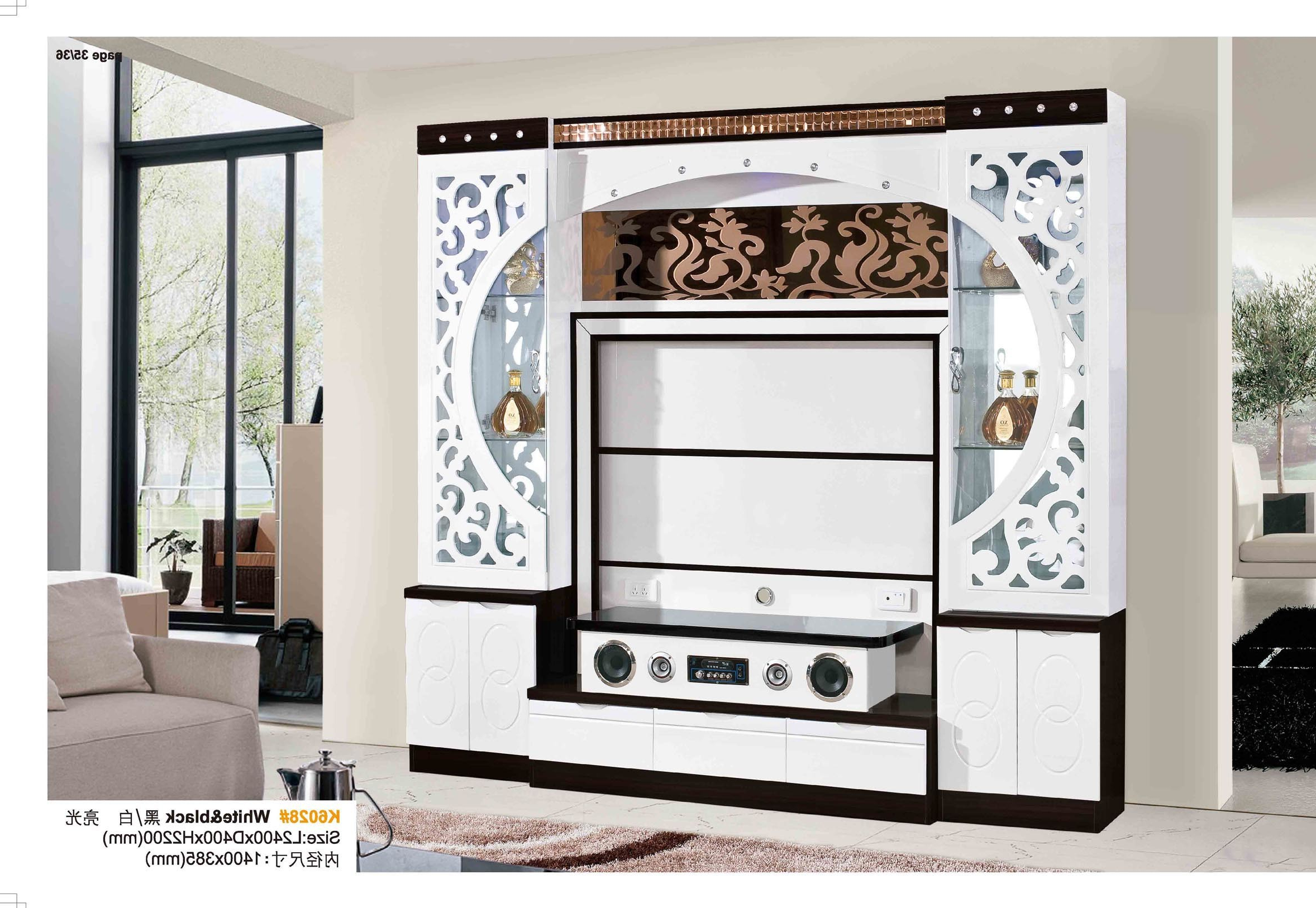Black Corner Tv Cabinets With Glass Doors Throughout Widely Used China White Black Wooden Corner Tv Cabinets With Glass Doors – China (View 19 of 20)