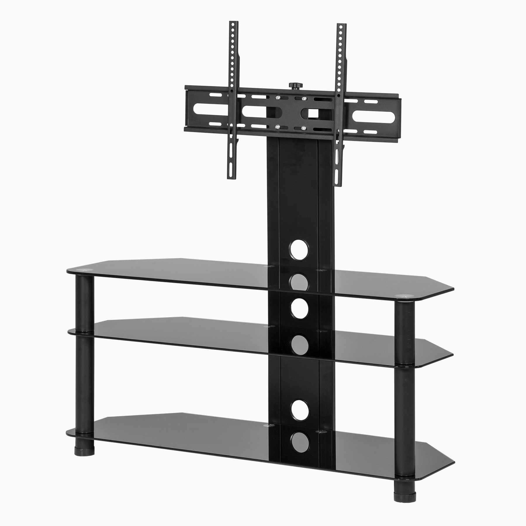 Black Glass Cantilever Tv Stand Regarding Recent Tv Stand Cantilever (View 4 of 20)