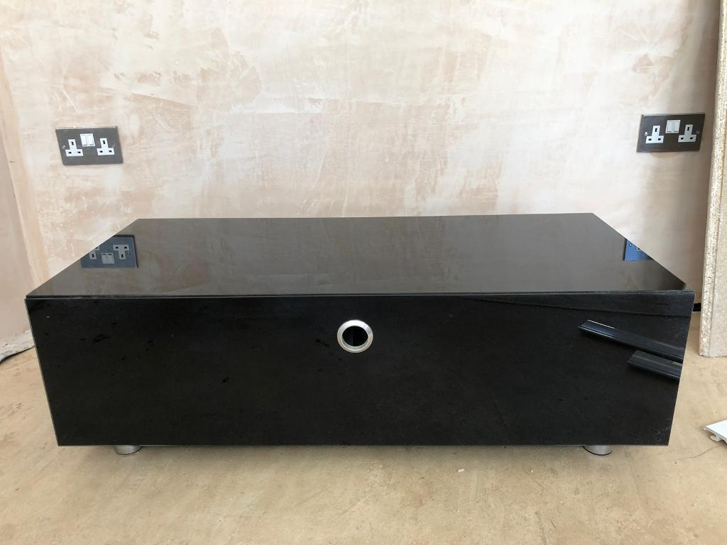 Black Glass Tv Cabinets Intended For Trendy Black Glass Tv Cabinet (View 4 of 20)