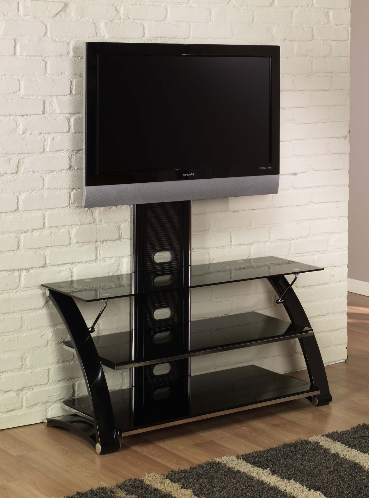 Black Glass Tv Stand 60 Inch Doors Price In Nigeria Sliding With And Regarding 2018 Black Tv Stand With Glass Doors (View 15 of 20)