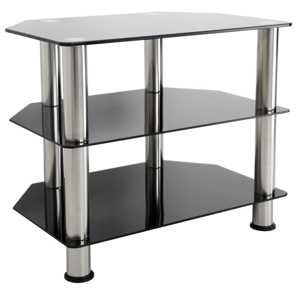 Black Glass Tv Stands Inside Preferred Avf Sdc600 Tv Stands (View 8 of 20)