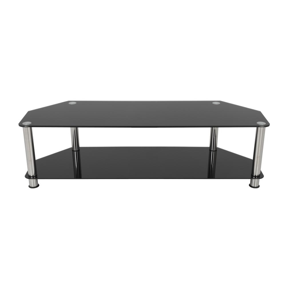 Black Glass Tv Stands Intended For Latest Avf Tv Stand For Tvs Up To 65 In (View 9 of 20)