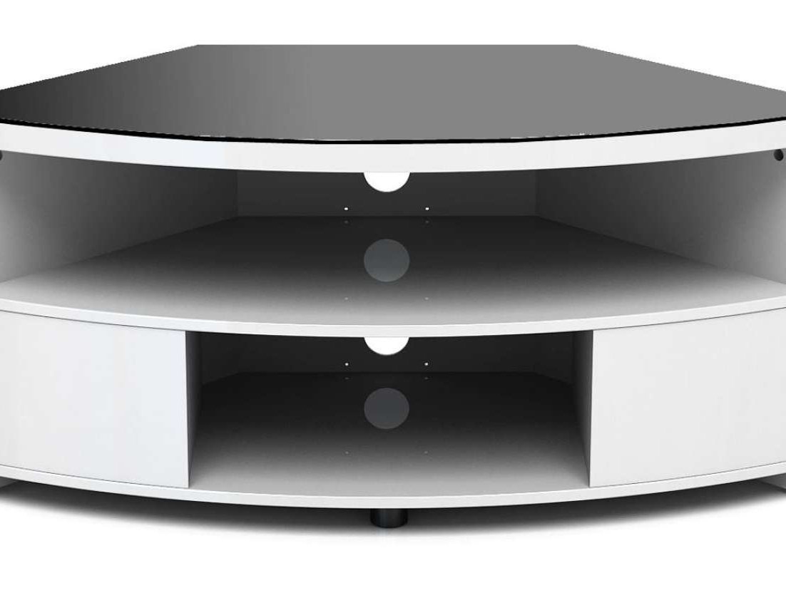 Black Gloss Corner Tv Stand In Latest High Corner Tv Stand White Gloss Cabinet Quality Stands Black (View 2 of 20)