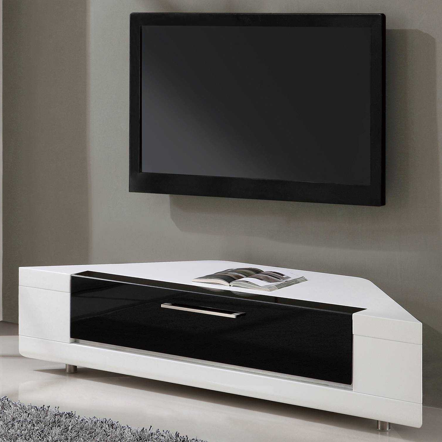Black Gloss Corner Tv Stand With Regard To 2018 High Corner Tv Stand White Gloss Cabinet Hamilton Highboy 30 Stands (View 6 of 20)
