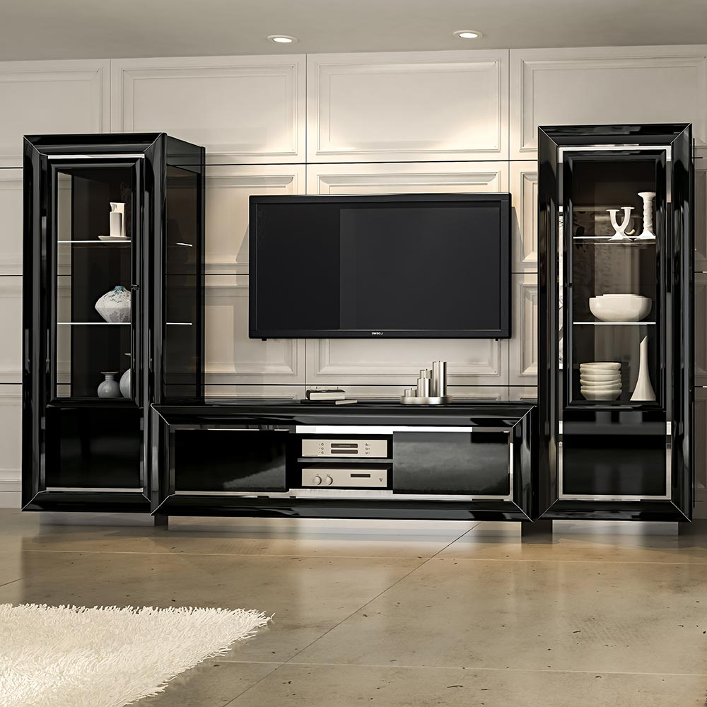 Black Gloss Tv Wall Units For Preferred High Gloss Wall Unit – Wall Ideas (View 3 of 20)