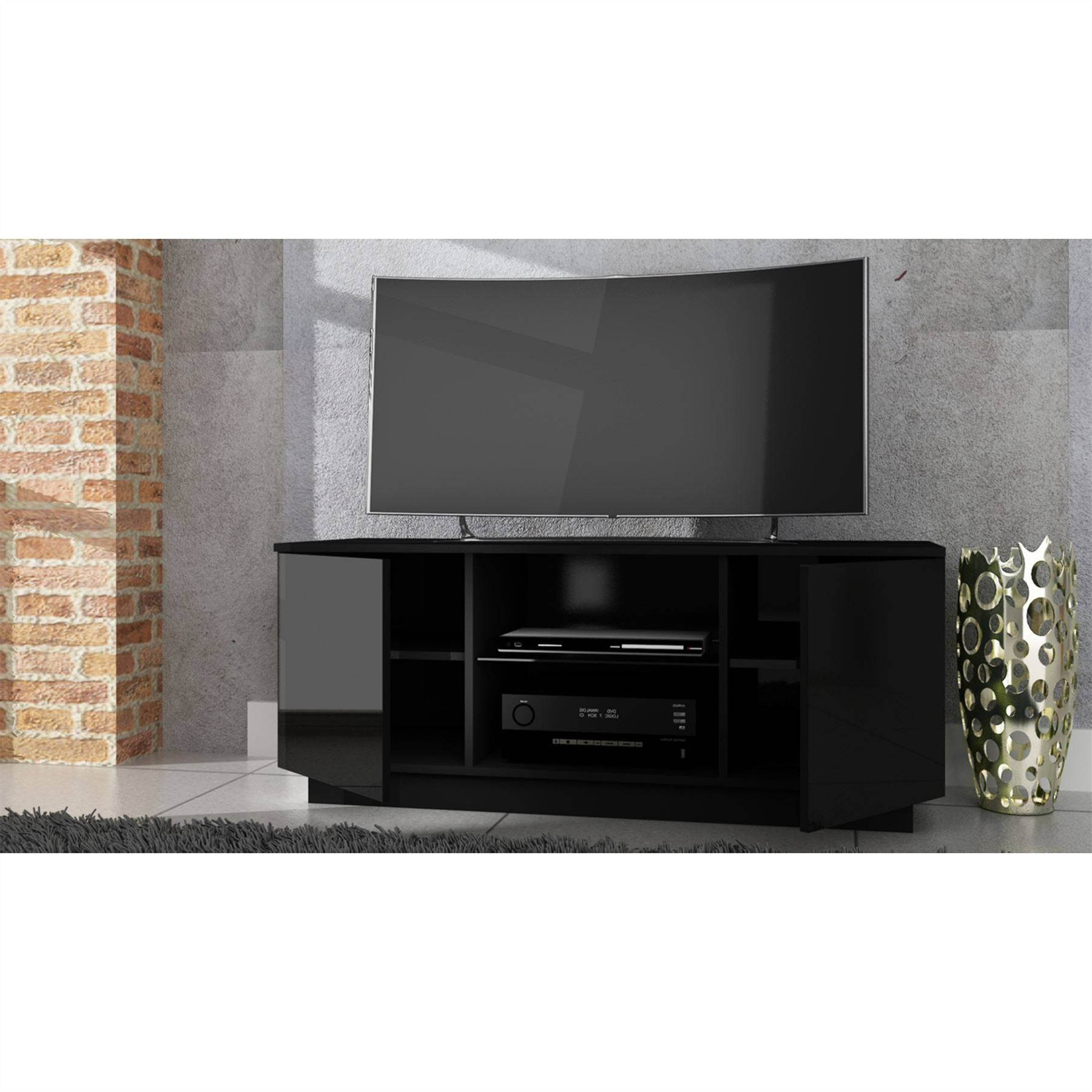 Featured Photo of Black High Gloss Corner Tv Unit