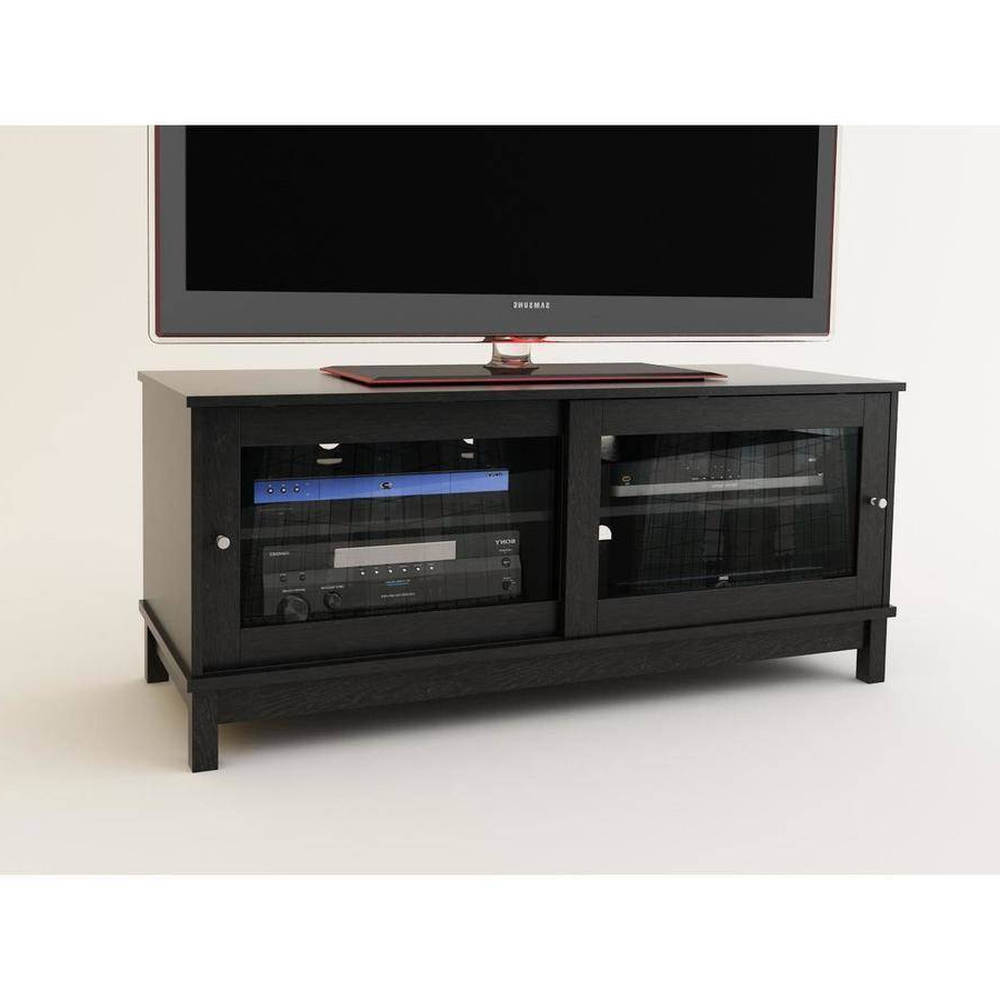 Black Tv Stand With Glass Doors In Trendy Tv Stands With Sliding Glass Doors – Sliding Door Ideas (View 5 of 20)