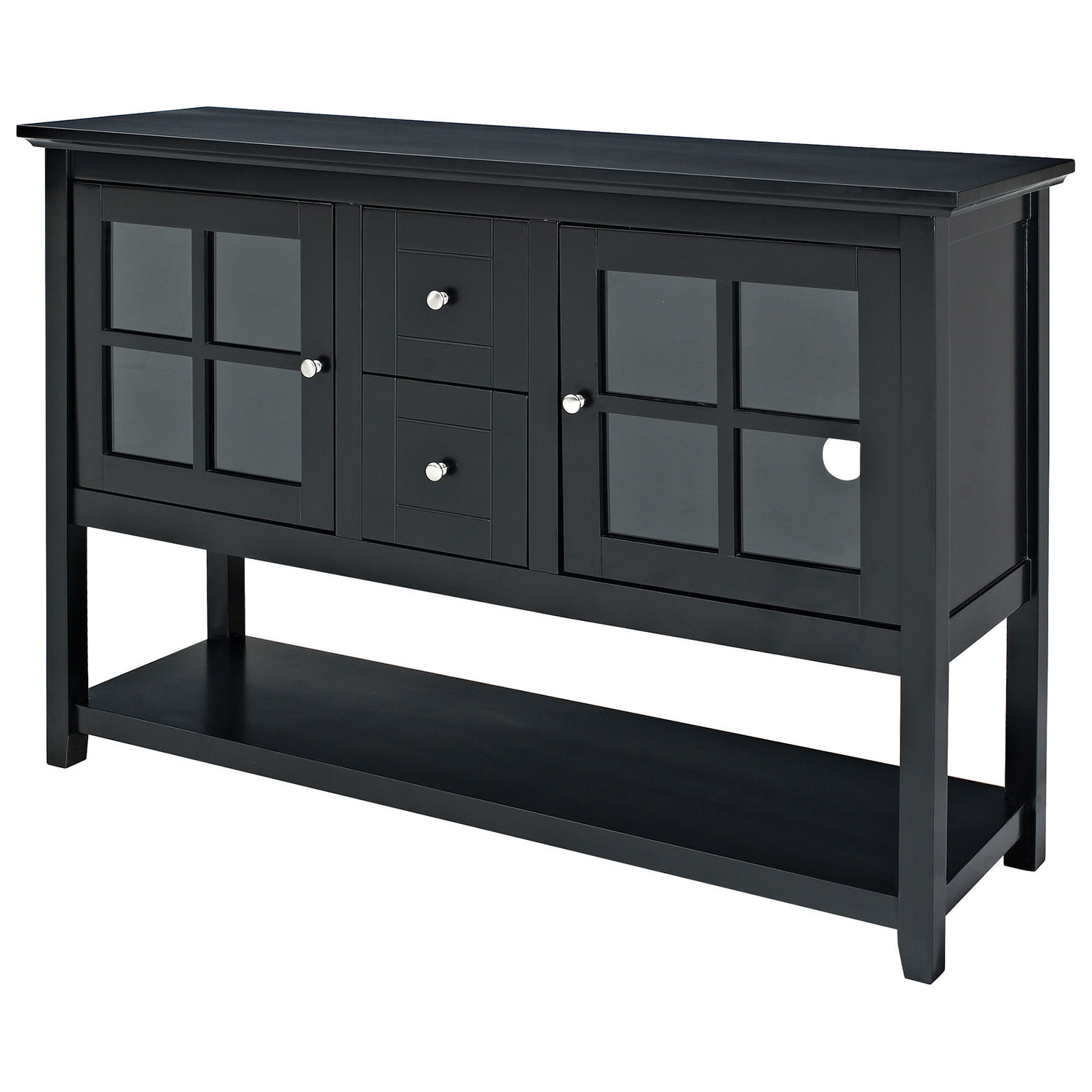 "Black Tv Stands With Drawers Intended For Current Walker Edison 55"" Console Tv Stand – Black : Tv Stands – Best Buy Canada (View 19 of 20)"