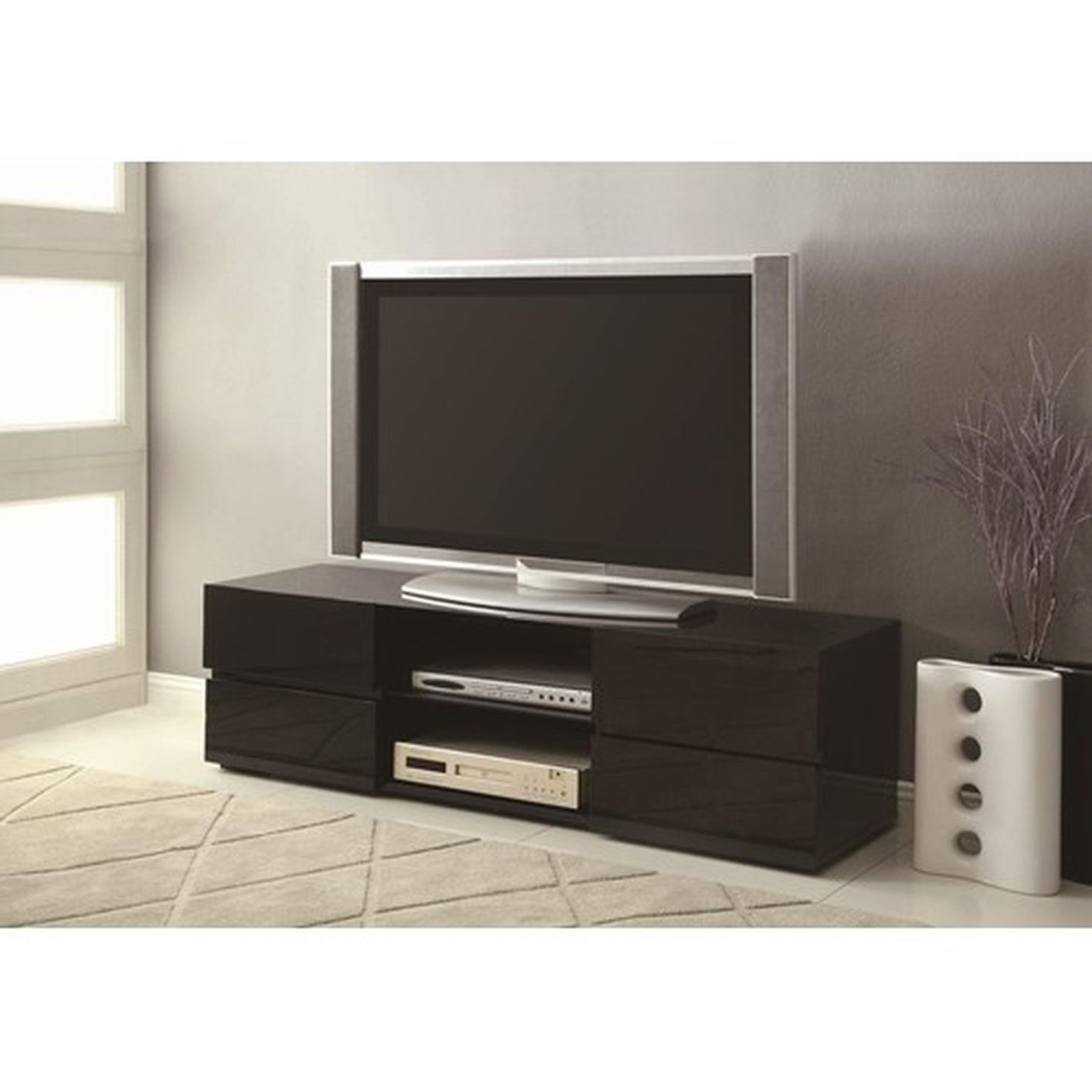 Black Tv Stands With Drawers With Well Liked Black Wood Tv Stand – Steal A Sofa Furniture Outlet Los Angeles Ca (View 11 of 20)