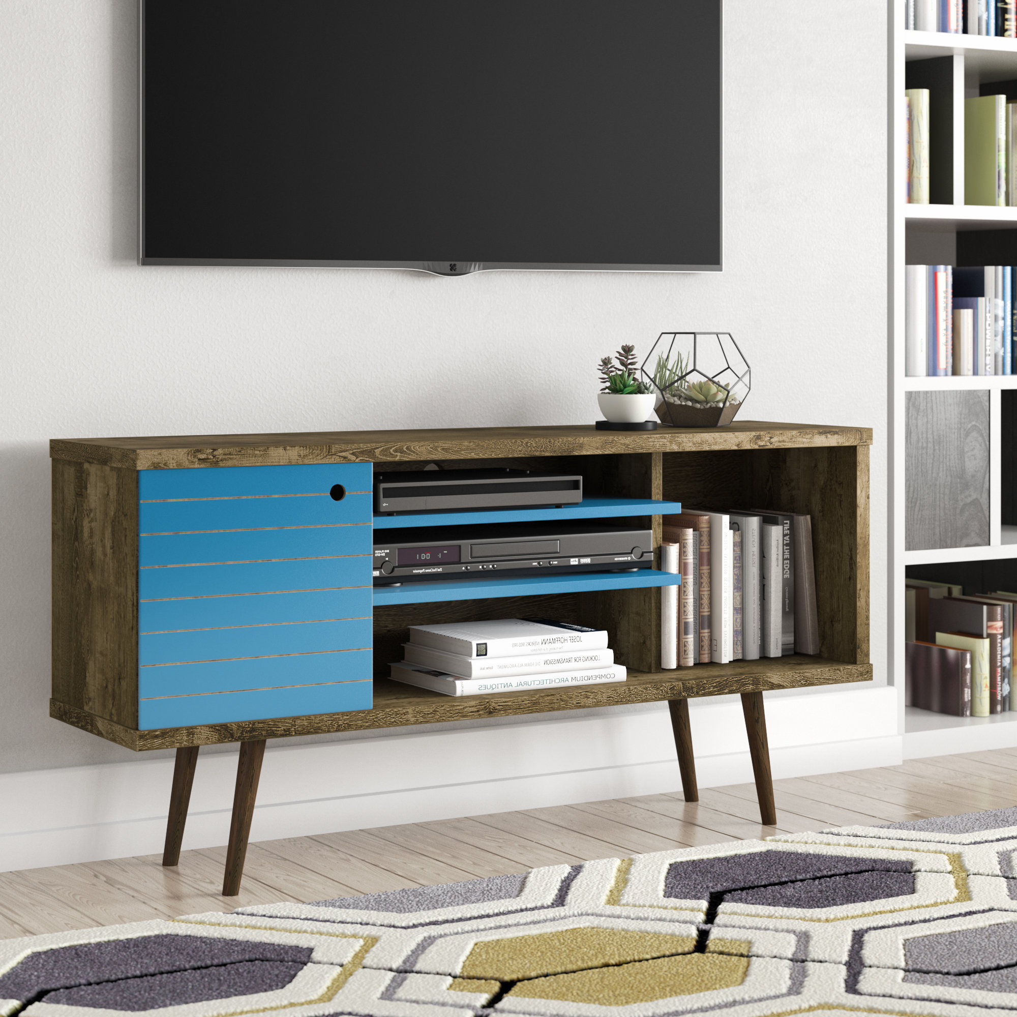 Blue Tv Stands With Most Up To Date Blue Tv Stands You'll Love (View 4 of 20)