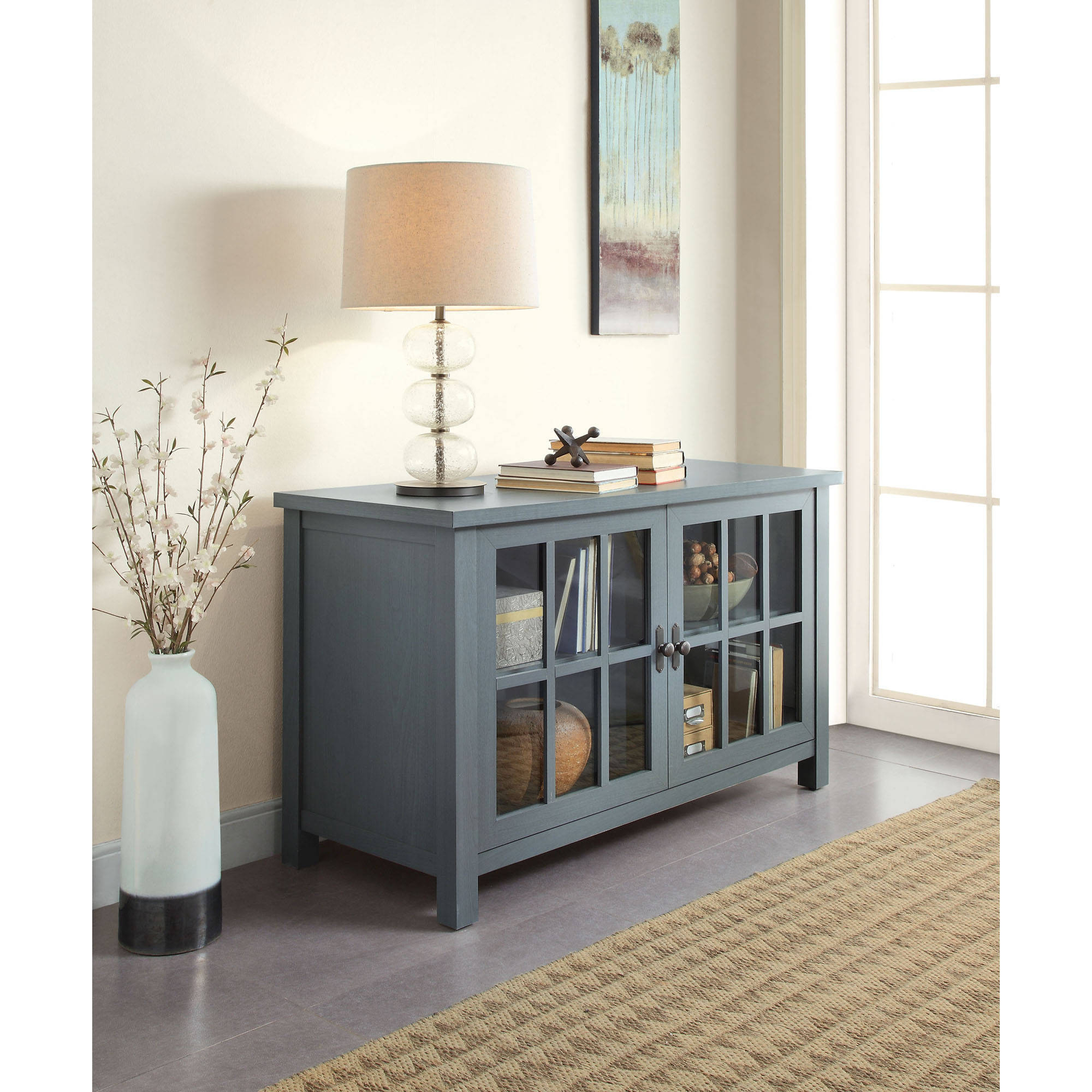 Blue Tv Stands With Well Known Teal Blue Tv Stand Better Homes And Gardens Oxford Square Console (View 6 of 20)