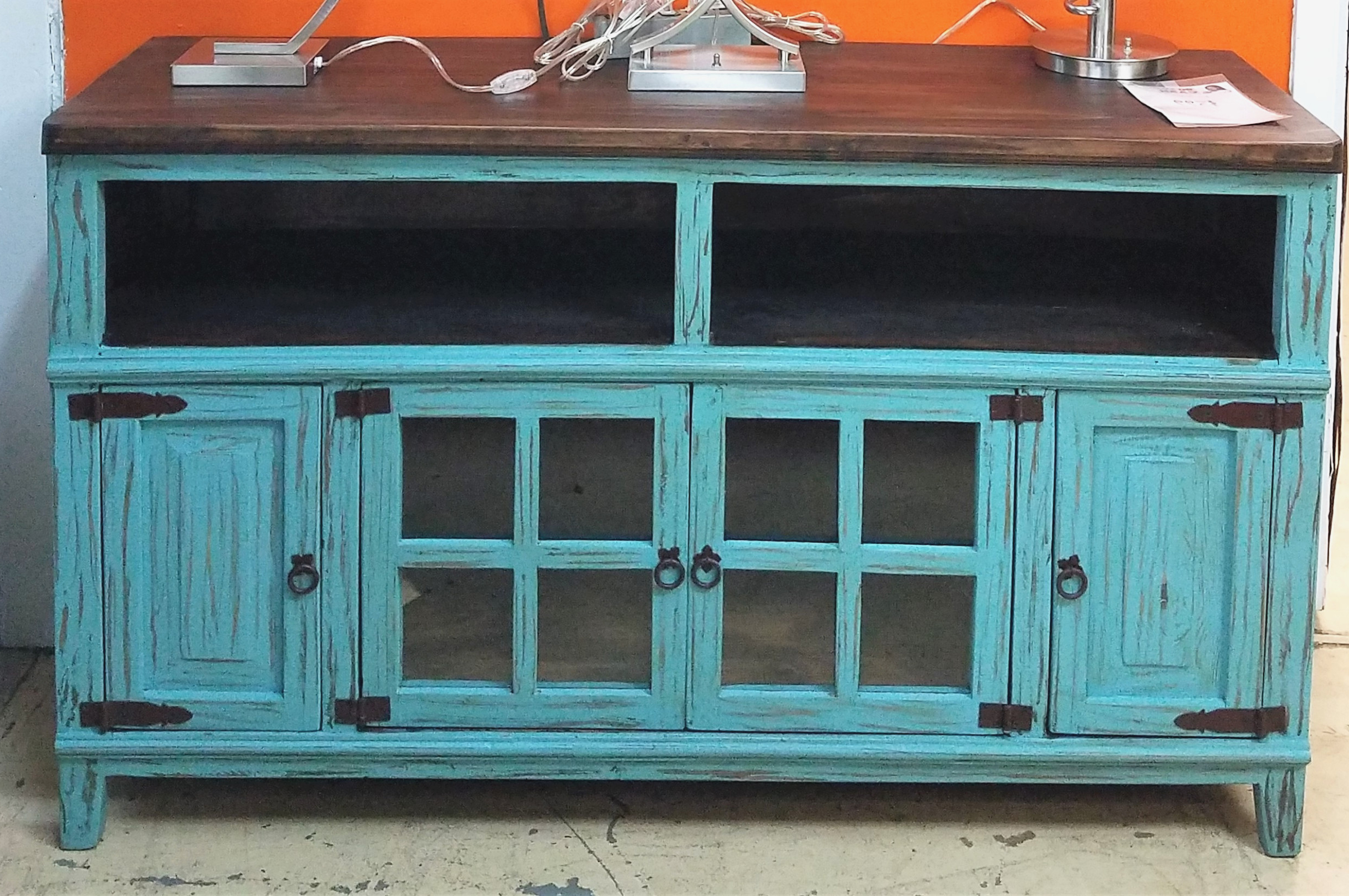Blue Tv Stands Within Most Recent Rustic Blue Tv Stand Stands Cabinet Fireplace Best Buy – Buyouapp (View 7 of 20)