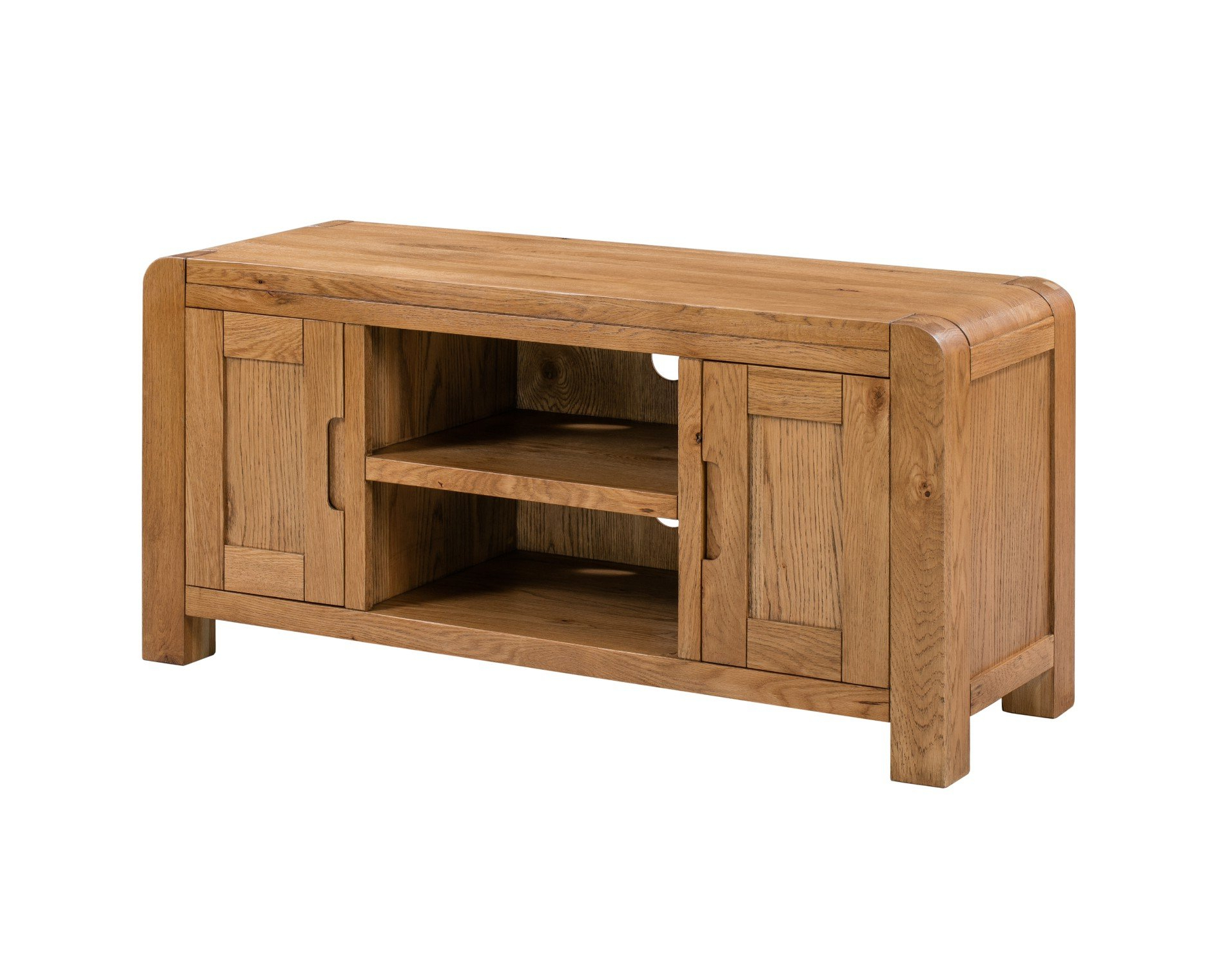 Bologna Oak Tv Unit / Large 2 Door Storage Tv Stand / Fully In Favorite Large Oak Tv Stands (View 2 of 20)