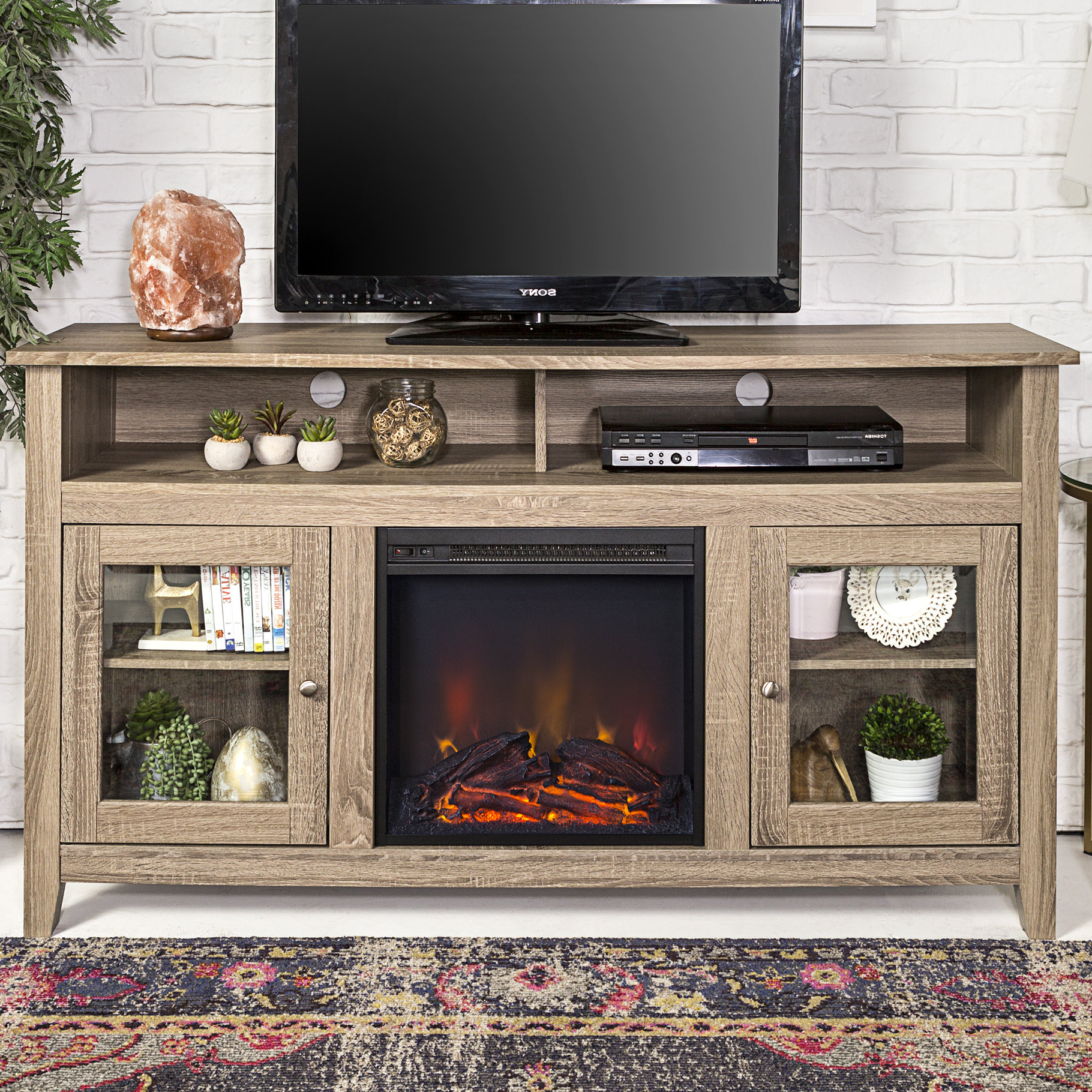 Bookshelf Tv Stands Combo Pertaining To Current End Table And Tv Stand Set (View 16 of 20)