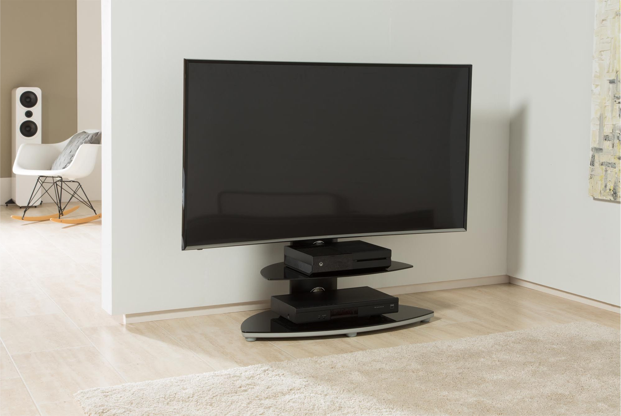 Bracketed Tv Stands Throughout Most Up To Date Alphason Osmb800/2 S Tv Stands (View 11 of 20)