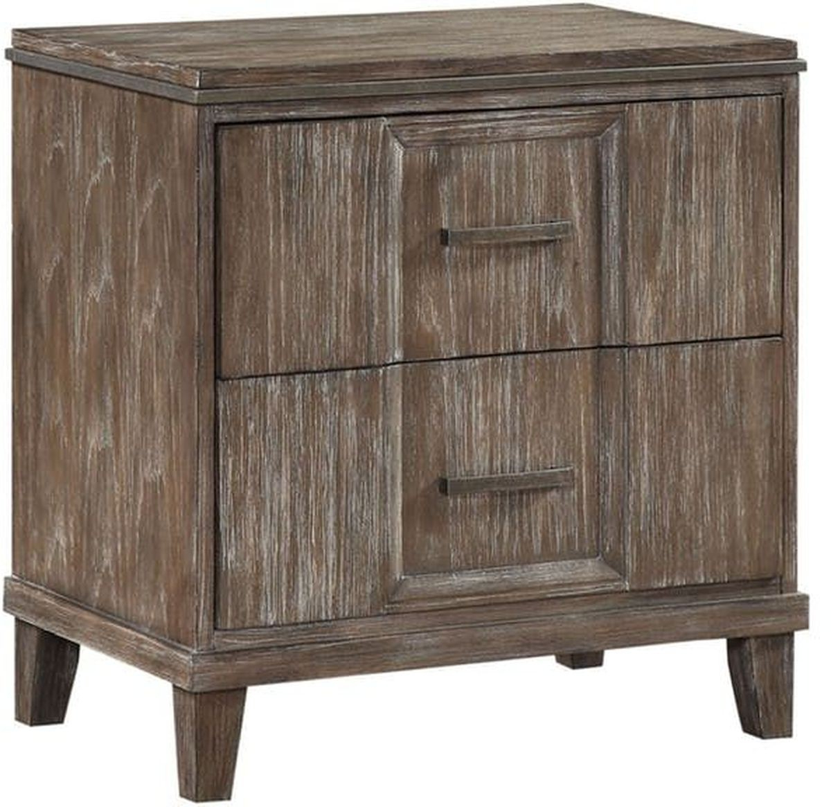 Burnt Oak Metal Sideboards For Well Known Acme Furniture Bayonne Nightstand With Usb In Burnt Oak (View 3 of 20)
