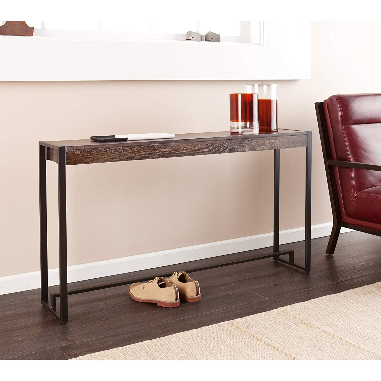 Burnt Oak Metal Sideboards Inside Current Amazon: Holly & Martin Macen Media Console Table, Burnt Oak With (View 6 of 20)