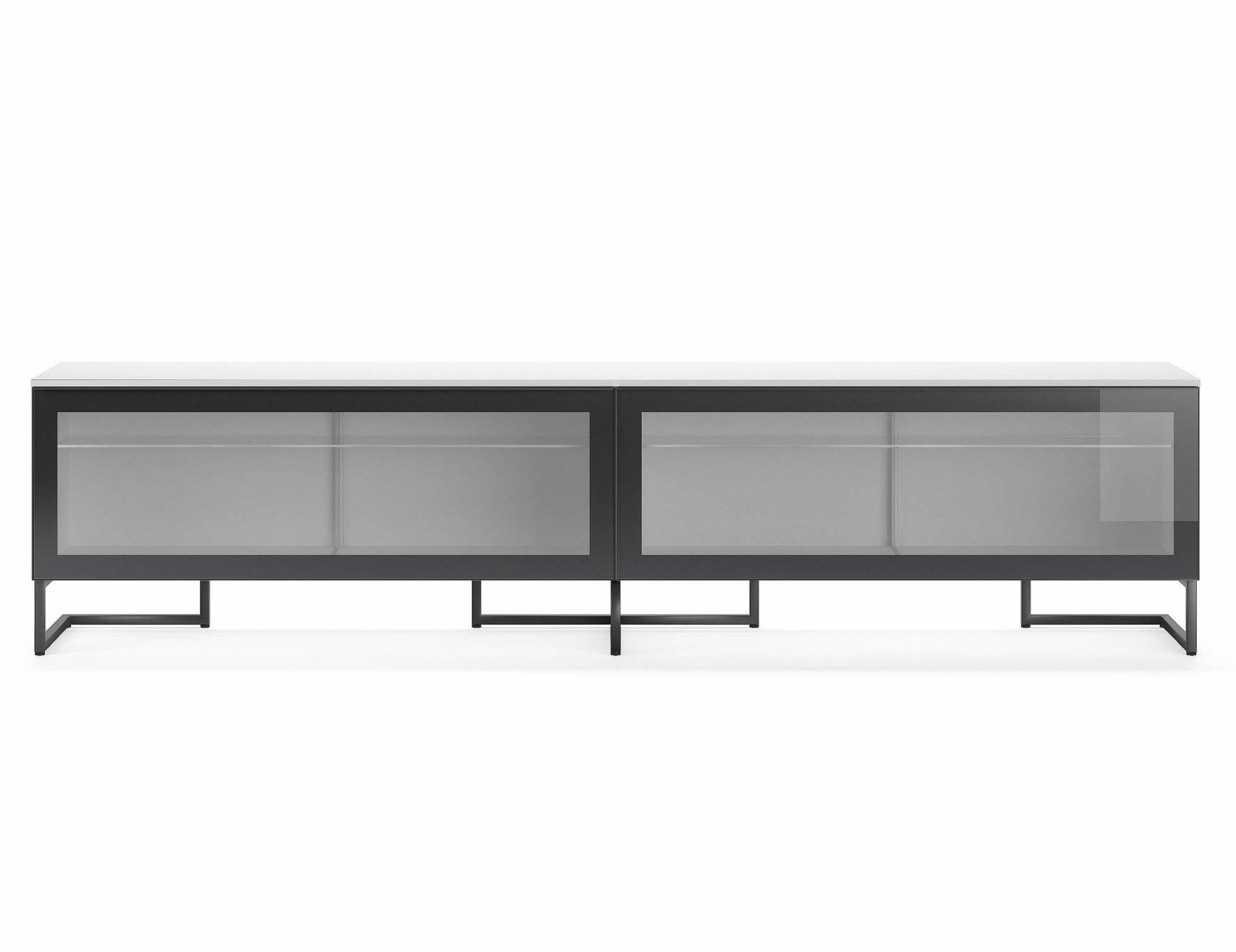 Burnt Oak Metal Sideboards With Well Liked Nella Vetrina Pianca Spazio Sgm240 Contemporary Italian Tv Unit In (View 14 of 20)