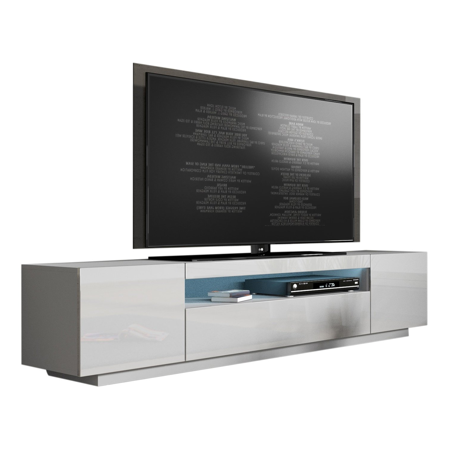 Bustillos Modern High Gloss Front Tv Stand For Tvs Up To 79 Regarding Preferred Black Gloss Tv Benches (View 18 of 20)