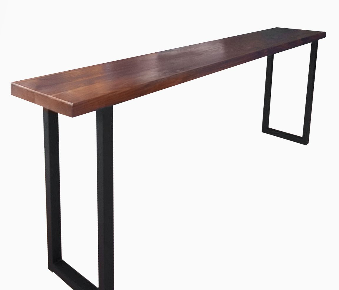 Buy A Custom Made Walnut And Steel Console Table Made To Wine Rack For Well Known Yukon Natural Console Tables (View 3 of 20)