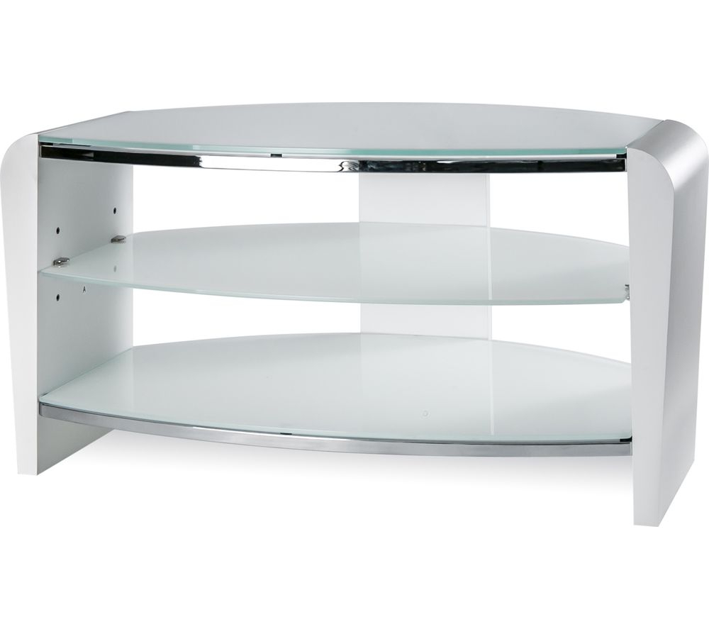 Buy Alphason Francium 800 Tv Stand – White & White Glass (View 4 of 20)