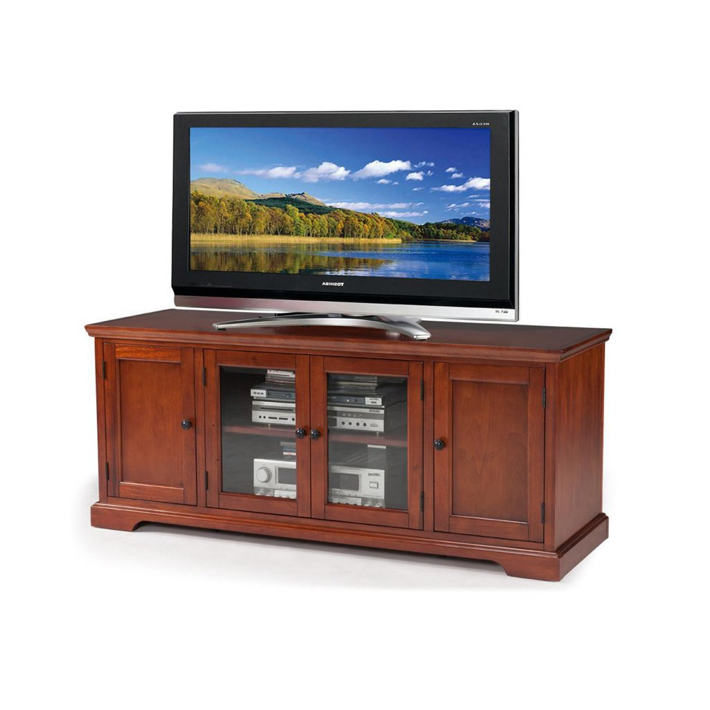 Buy Cherry Finish, 42 – 60 Inches Tv Stands & Entertainment Centers Regarding Well Known Wakefield 67 Inch Tv Stands (View 3 of 20)