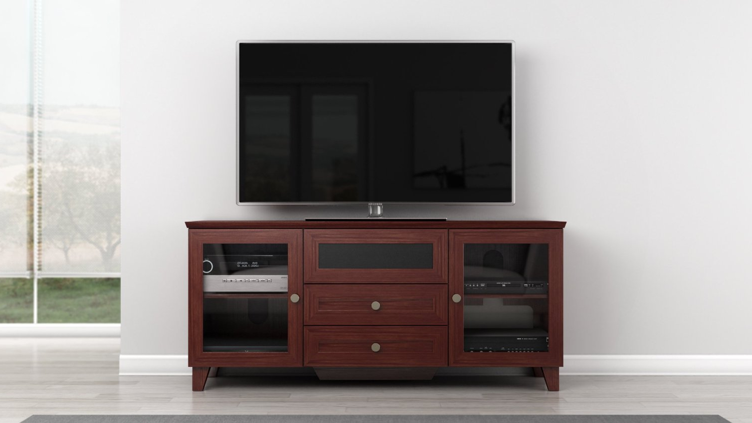 Buy Furnitech Ft61Sccfb 60 Inch Shaker Style Tv Corner Console With Throughout Most Recently Released 61 Inch Tv Stands (View 9 of 20)