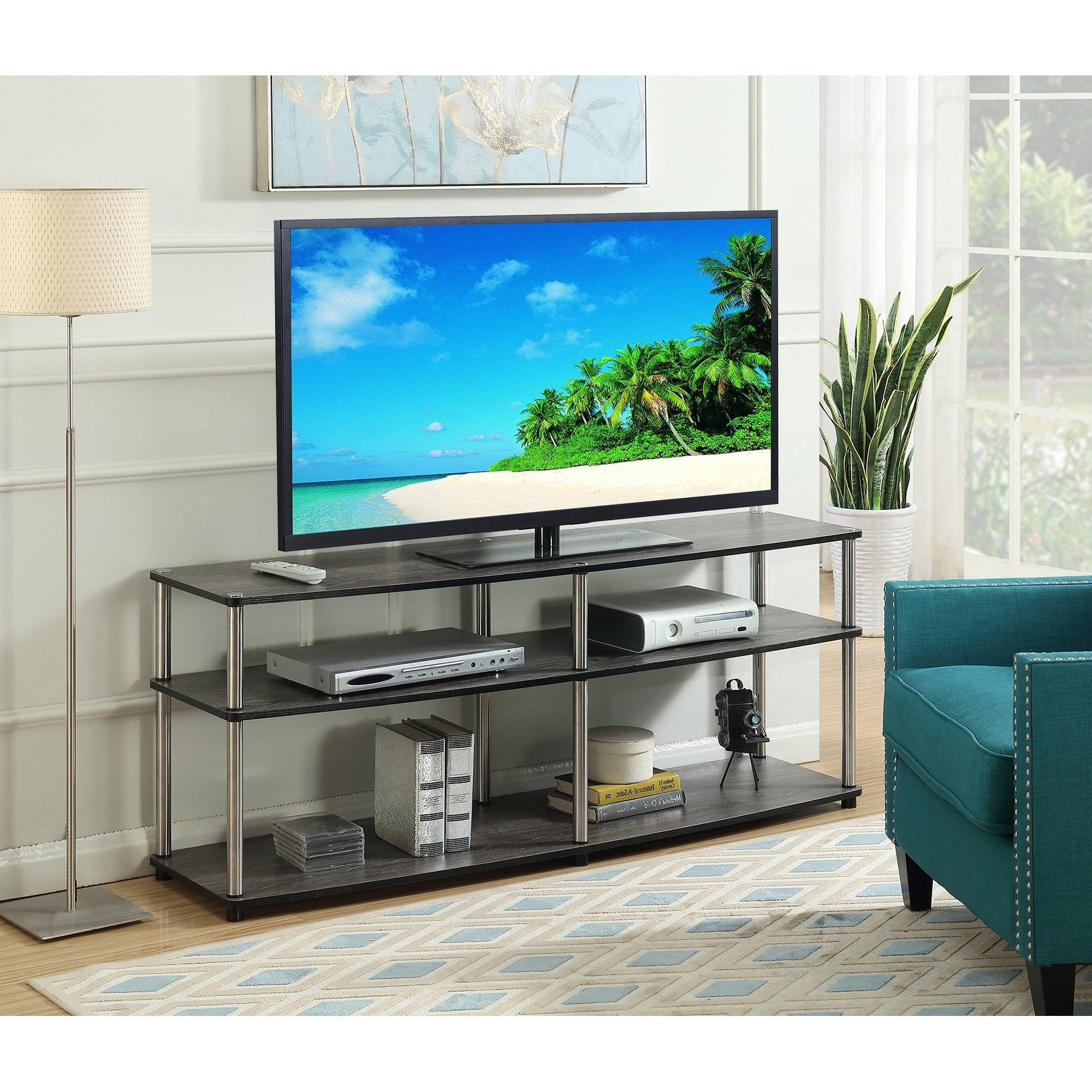 Buy Grey, 42 – 60 Inches Tv Stands & Entertainment Centers Online At In Newest Rowan 45 Inch Tv Stands (View 12 of 20)