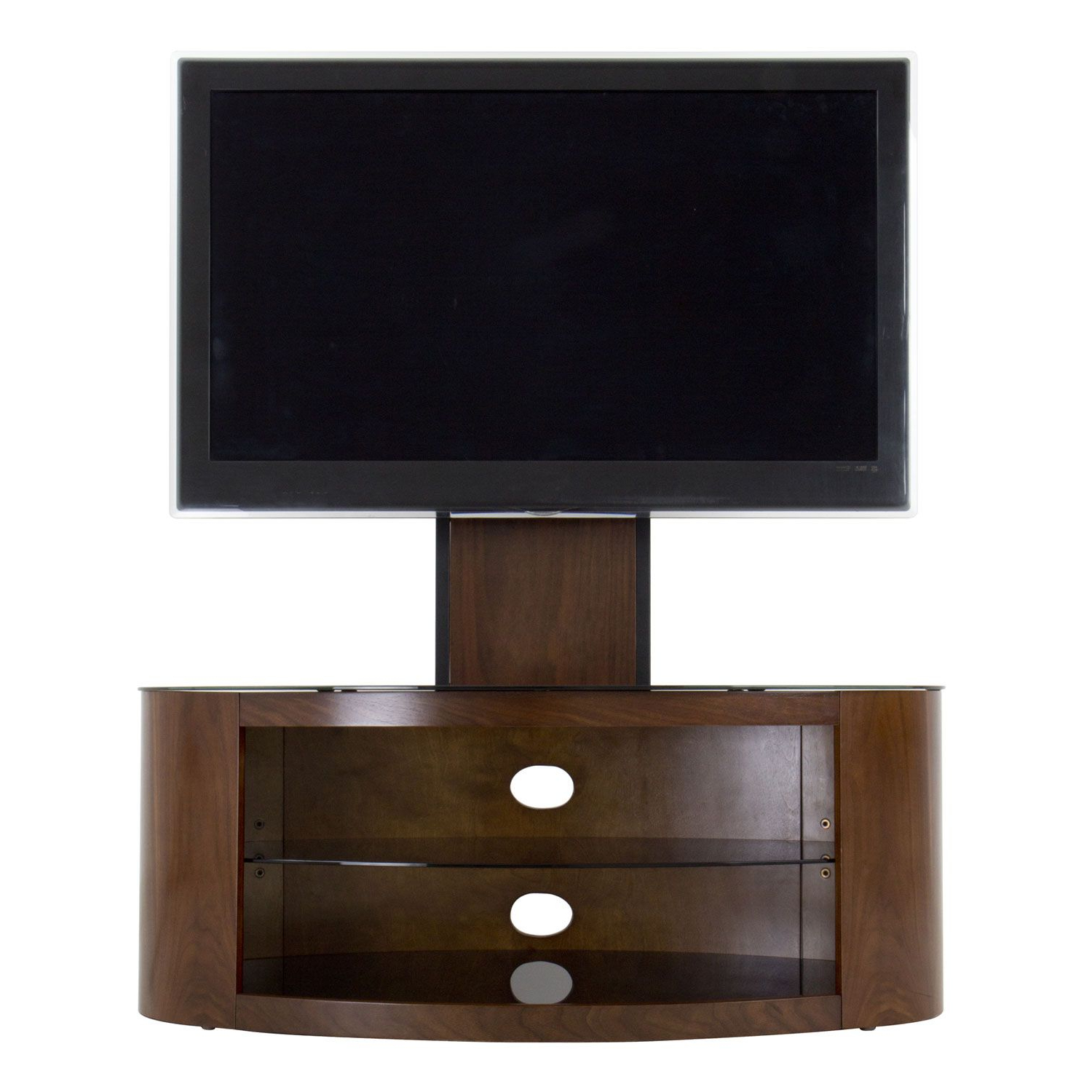 Buy The Avf Buckingham Walnut 100Cm Combination Tv Stand (View 3 of 20)