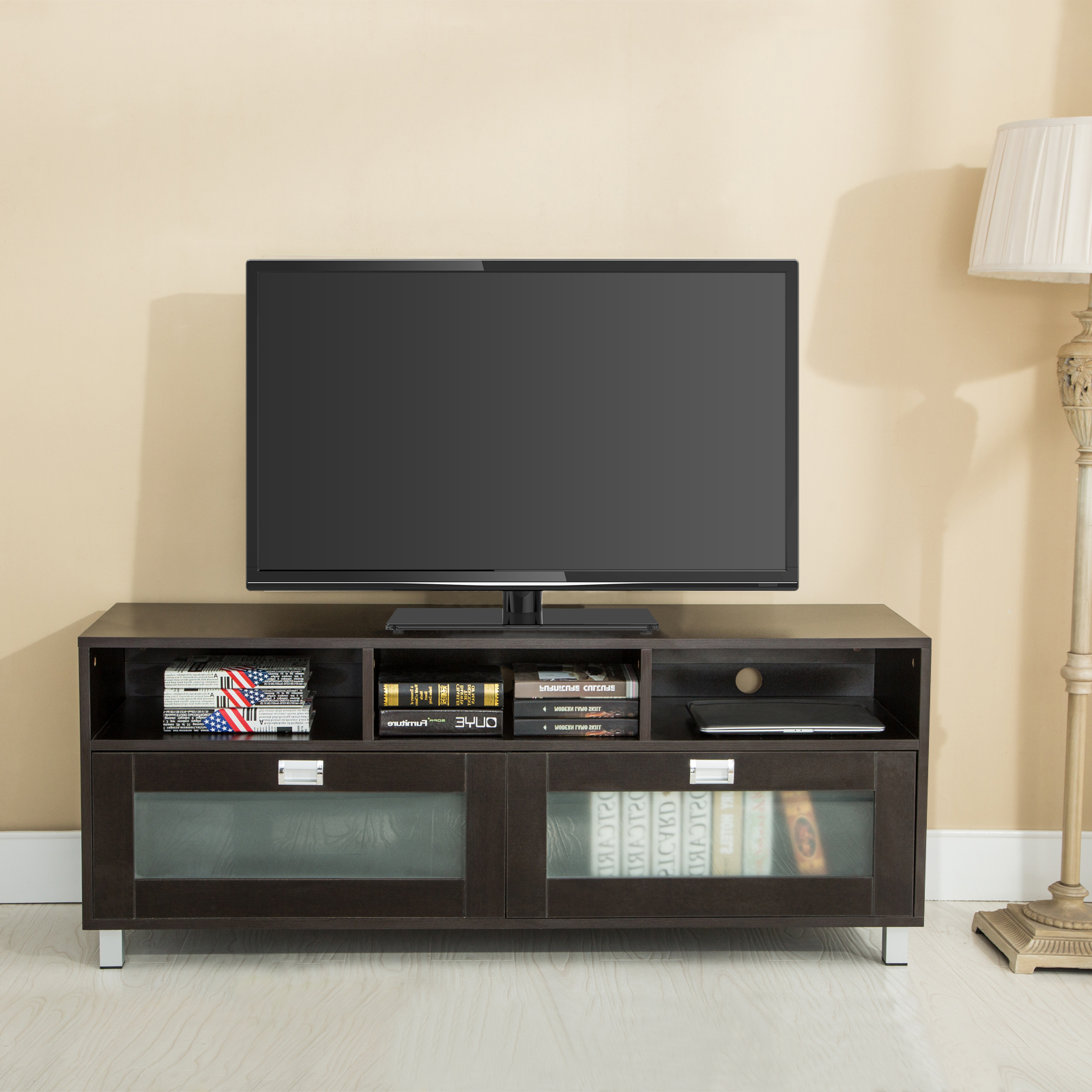 Cabinet Tv Stands Within Latest Tv Stand With Cabinet – Happyhearts (View 4 of 20)
