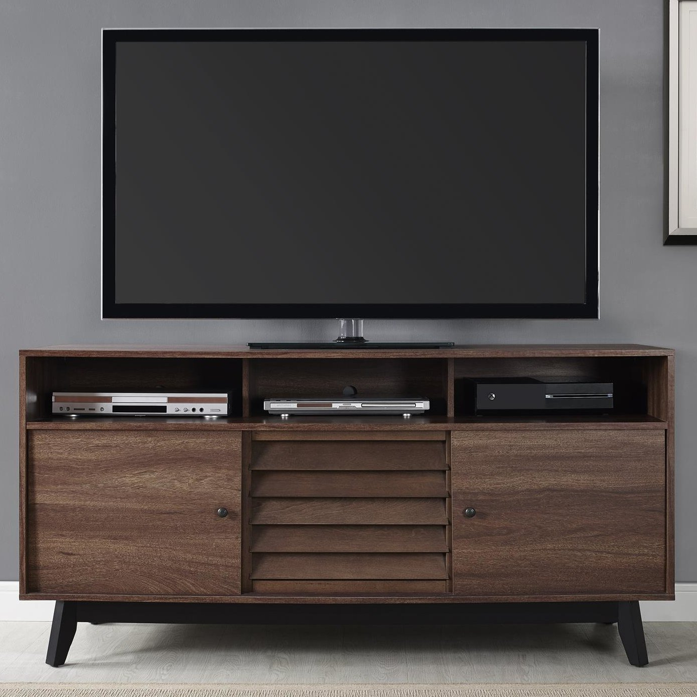"""Caden 63 Inch Tv Stands Within Trendy Trent Austin Design Dover Tv Stand For Tvs Up To 60"""" & Reviews (View 8 of 20)"""