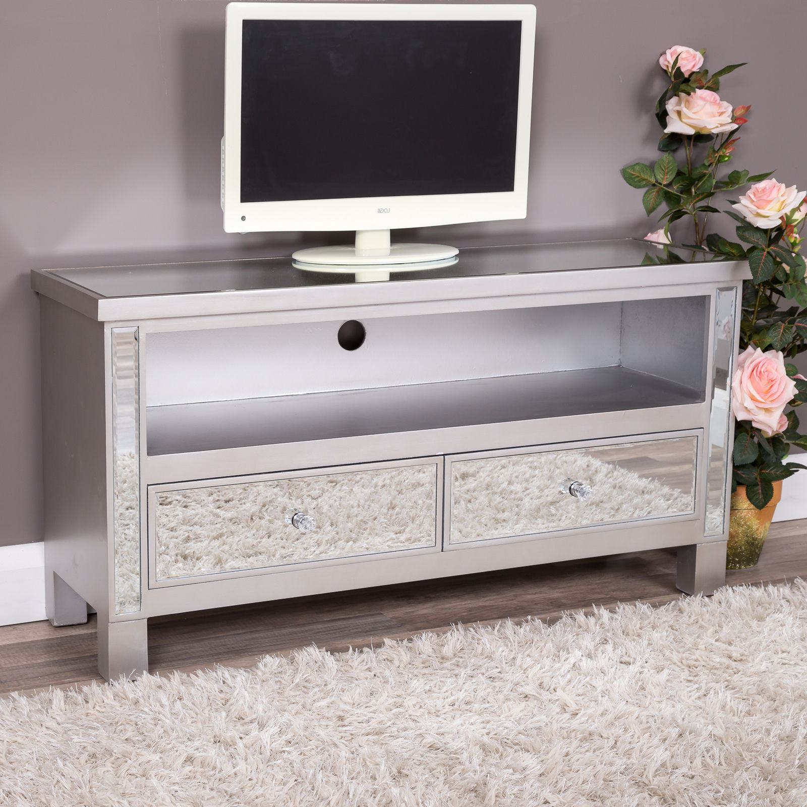 Cakestandlady For Trendy Mirrored Tv Stands (View 3 of 20)