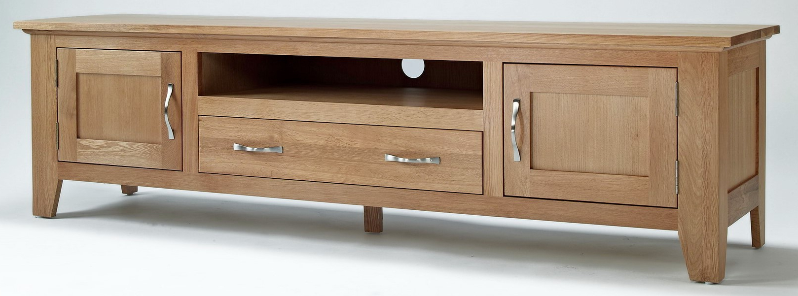 Camberley Oak Large Widescreen Tv Unit (Gallery 6 of 20)