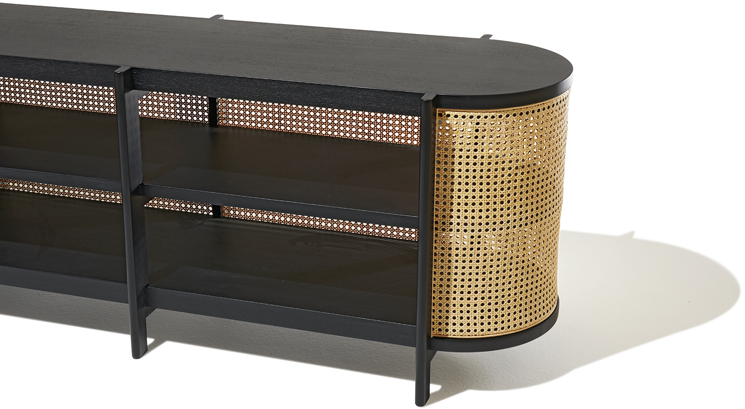 Cane Media Console With Regard To Current Natural Cane Media Console Tables (View 2 of 20)